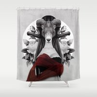 evolution Shower Curtains featuring Proud Evolution by Peg Essert