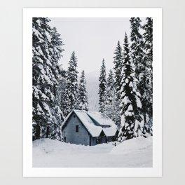 Emerald Lake Lodge, Alberta Art Print