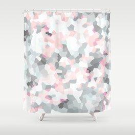 geometric mix/ grey  Shower Curtain