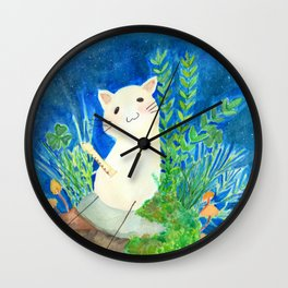 Music Bean in the night! Wall Clock