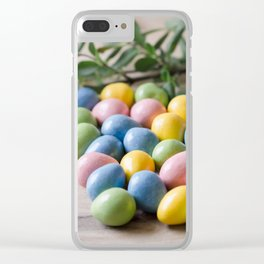 Easter Eggs 16 Clear iPhone Case