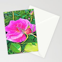 Pink Flower of Graceful Beauty Stationery Cards
