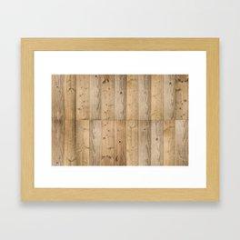 Wood Planks Light Framed Art Print