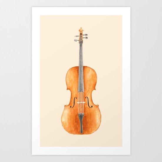 Cello - Watercolors Art Print