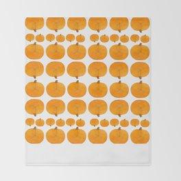Pumpkin Pattern | Rustic Throw Blanket