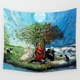 The Maiden, The Mother, and The Crone Wall Tapestry