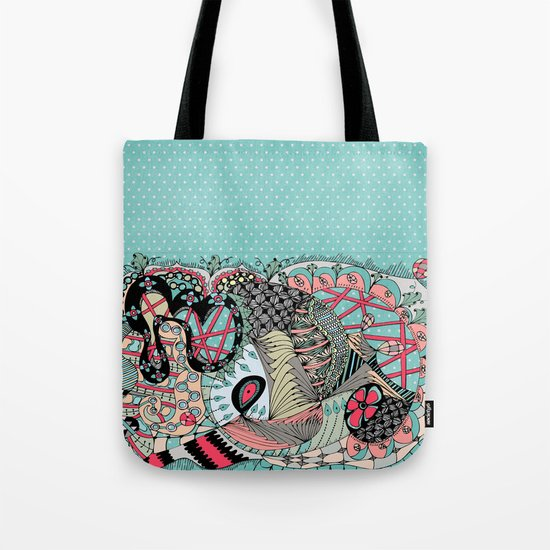 The eye looking flower Tote Bag
