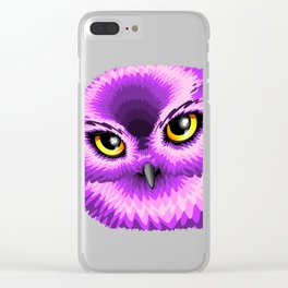 Pink Owl Eyes Clear iPhone Case