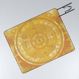 Yellow Monterey Mandala Picnic Blanket