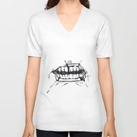 teeth V-neck T-shirts featuring Teeth by Tanya_Vazh
