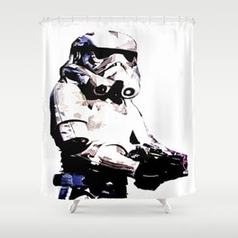 Paper Trooper Shower Curtain