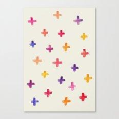 Colorful crosses Canvas Print