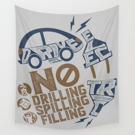 Drive Electric Wall Tapestry