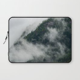 Pine tree forest in the clouds in moody Norway   Travel photography Scandinavia Laptop Sleeve