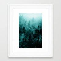 fractal Framed Art Prints featuring Fractal Forest by Klara Acel