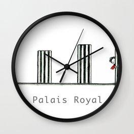 A Few Parisians: Palais Royal by David Cessac Wall Clock