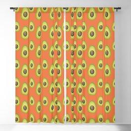 Burnt Orange Avocado Pattern Blackout Curtain