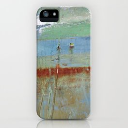 Harbour Abstract II - JUSTART (c) iPhone Case