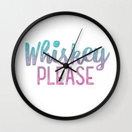 Whiskey Please! Wall Clock