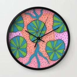 Ocean Floor Greenery Abstract Wall Clock