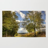 kentucky Area & Throw Rugs featuring Kentucky Road by JMcCool