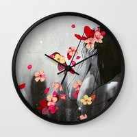 rush Wall Clocks featuring Rush by Stasia B