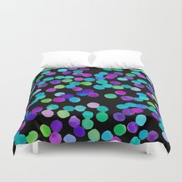 Watercolour Purple Blue Dots Duvet Cover