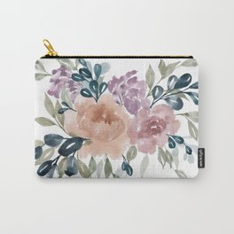 Fall Flowers + Leaves Carry-All Pouch