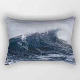 Crashing Ocean Waves Pacific Coast Beach Rectangular Pillow