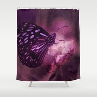daria Shower Curtains featuring Soft Caress by Donuts