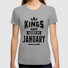 Mens Kings Are Born In January Birthday Gifts T-shirt
