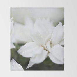 Snow White Flowers on a Dark Background #decor #society6 #buyart Throw Blanket