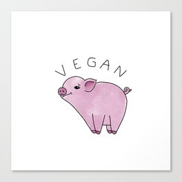 Vegan Pig Canvas Print