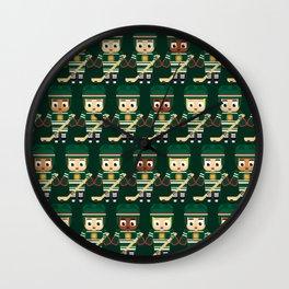 Super cute sports stars - Ice Hockey Green Wall Clock