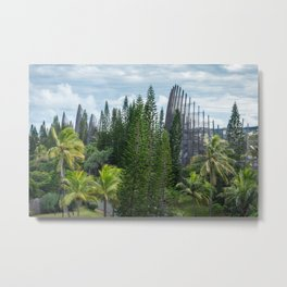 Tjibaou Cultural Centre - a place for art and nature in New Caledonia. Metal Print