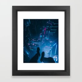 There's no traffic up here Framed Art Print