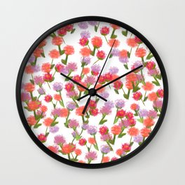 Watercolour ditsy Wall Clock
