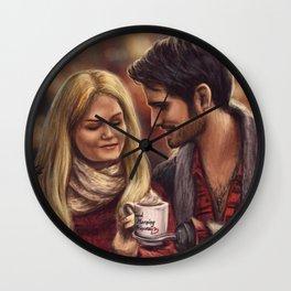 Hot Chocolate In Autumn Wall Clock