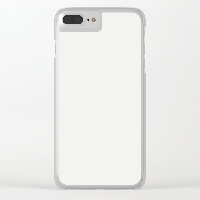 Neutral Off White Inspired by PPG Glidden Delicate White PPG1001-1 Solid Color Clear iPhone Case