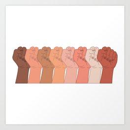 Female Power Pattern 6 Art Print