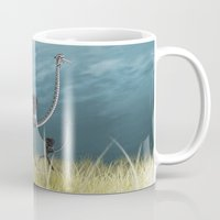 runner Mugs featuring Runner by Tony Vazquez