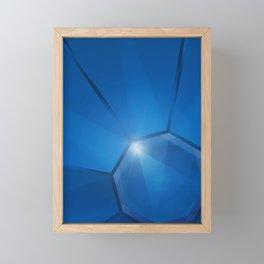 Sapphire Gem Framed Mini Art Print