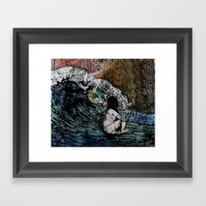 Crawled Out of the Sea  Framed Art Print
