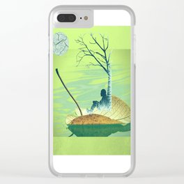 Stand beside me when I leave Clear iPhone Case