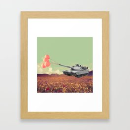 don't war, be happy Framed Art Print