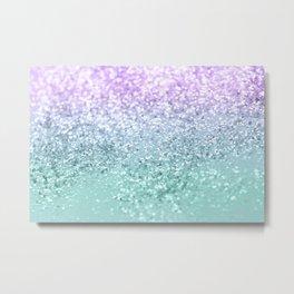 Mermaid Girls Glitter #1 #shiny #decor #art #society6 Metal Print