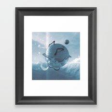 Futuristic Igloo Framed Art Print
