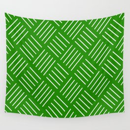 Abstract geometric pattern - green and white. Wall Tapestry