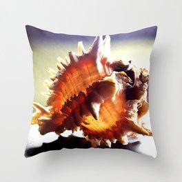 Blushing Seashell Deux Throw Pillow