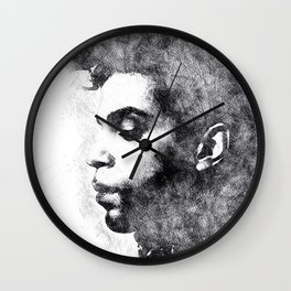 Prince portrait 02 Wall Clock